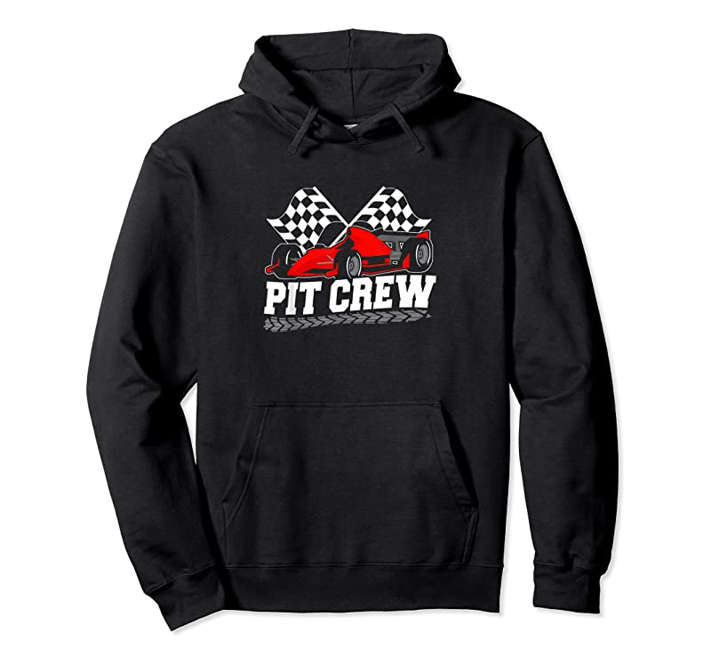 New Pit Crew Car Racing Checkered Flag Racing Party T Shirts