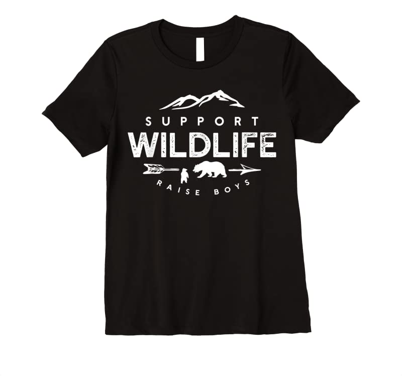 New Support Wildlife Raise Boys Funny Mom And Dad T Shirts