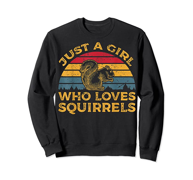 New Vintage Just A Girl Who Loves Squirrels T Shirts