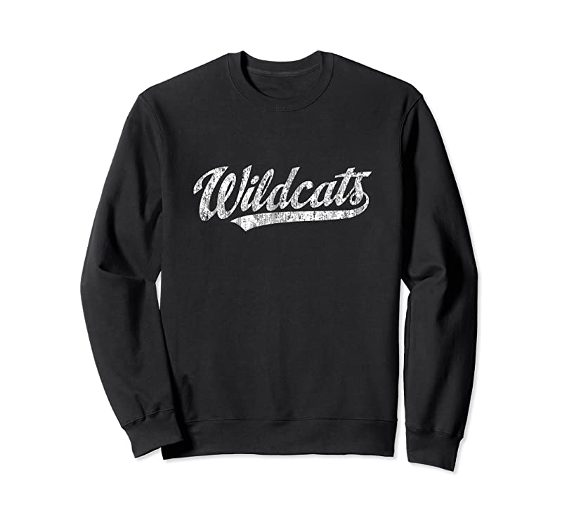 New Wildcats Mascot Vintage Sports Name Tee Design T Shirts