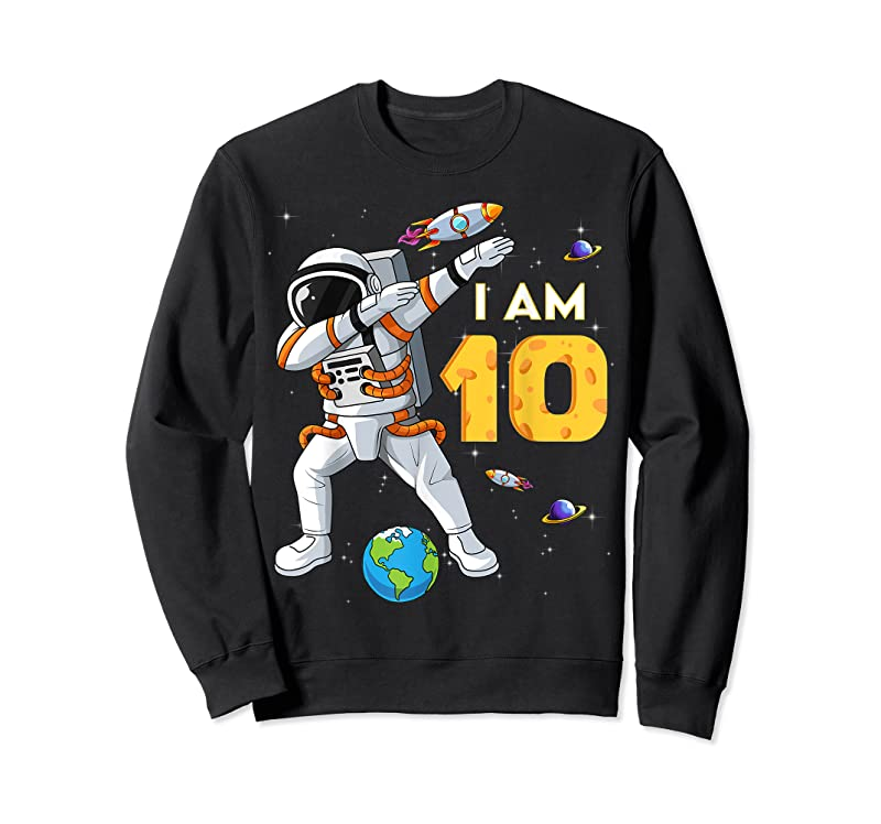 Perfect 10 Years Old Birthday Boy Astronaut Space 10th B Day T Shirts