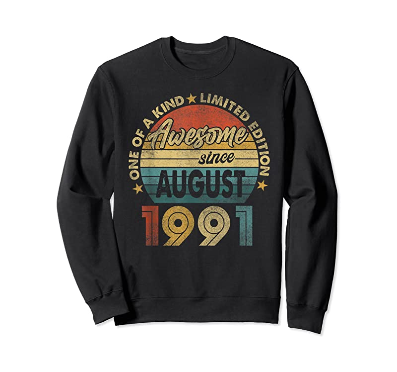 Perfect 30 Years Old 30th Birthday Men Awesome Since August 1991 T Shirts