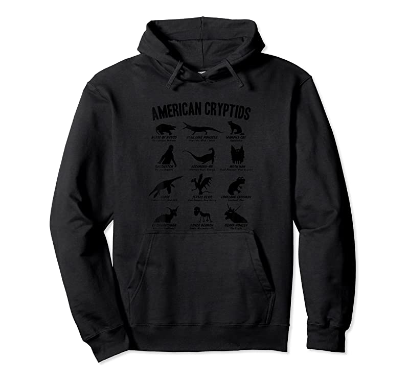 Perfect American Cryptids (cryptozoology Chart) T Shirts