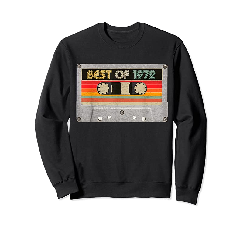 Perfect Best Of 1972 49th Birthday Gifts Cassette Tape Vintage T Shirts