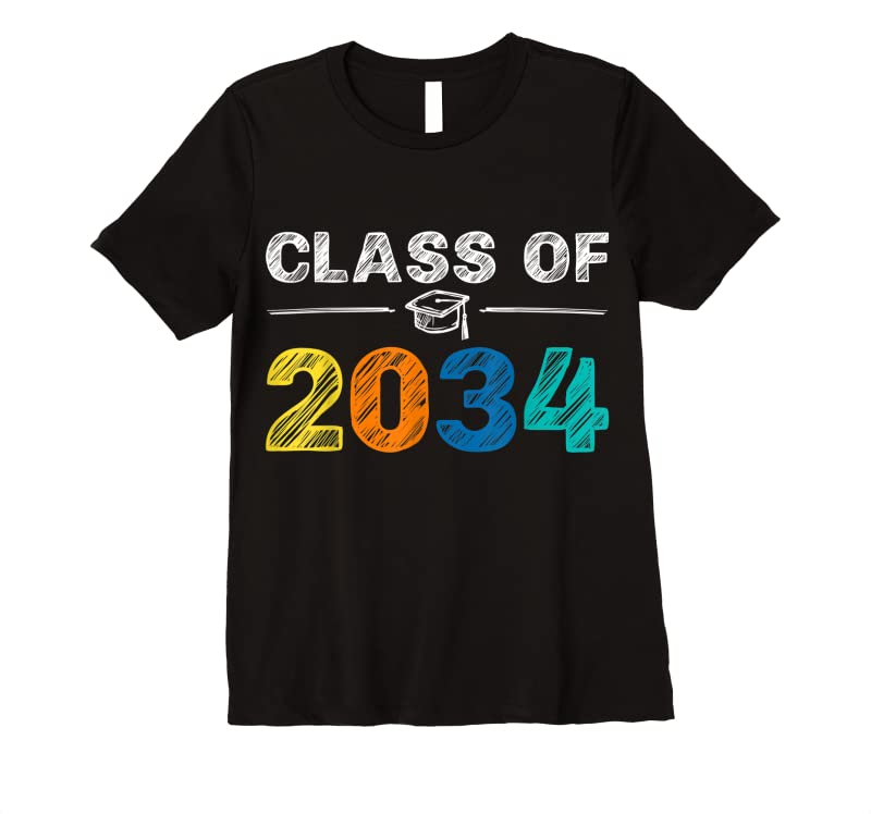 Perfect Class Of 2034 Grow With Me First Day Of School Graduation T Shirts