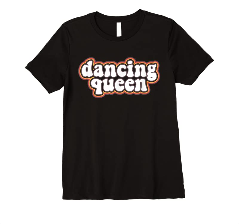 Perfect Dancing Queen Roller Disco Outfit 70s Costume For Women T Shirts