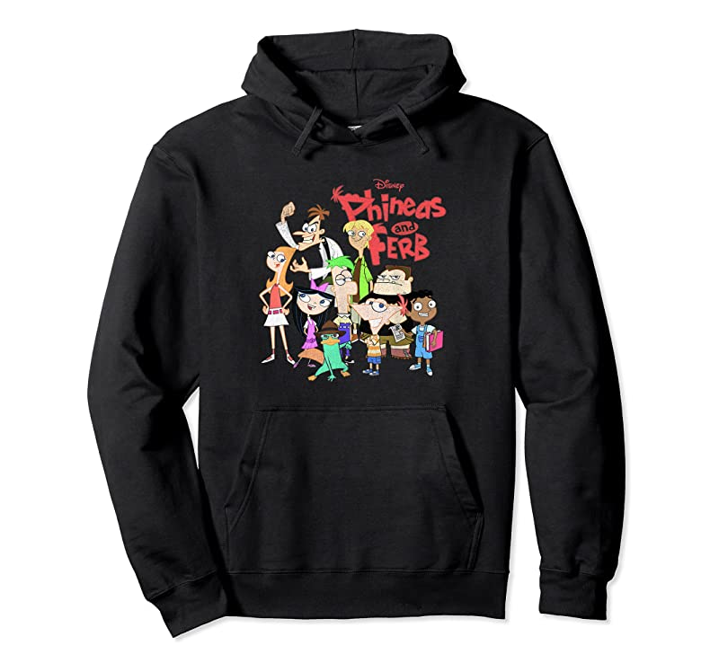 Perfect Disney Phineas And Ferb The Group Logo T Shirts
