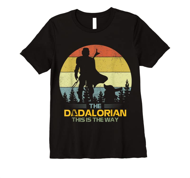 Perfect Fun Mens Father's Day Idea This Is The Way Dadalorian Daddy T Shirts