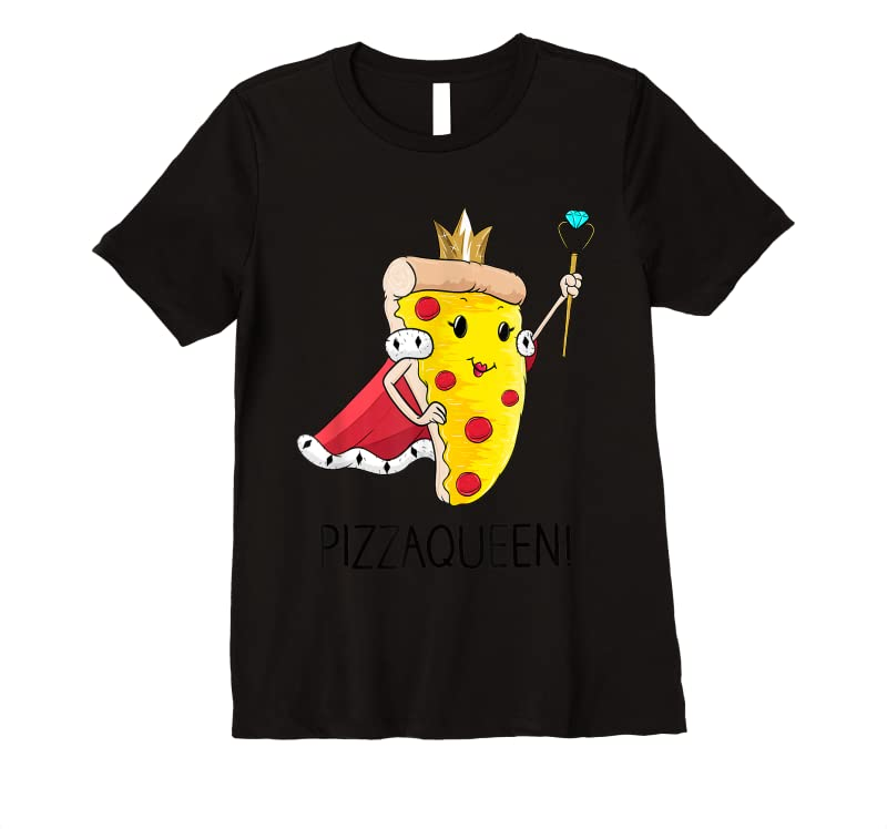 Perfect Kids Funny Pizza Queen Salami Pizza Fast Food Girl T Shirts