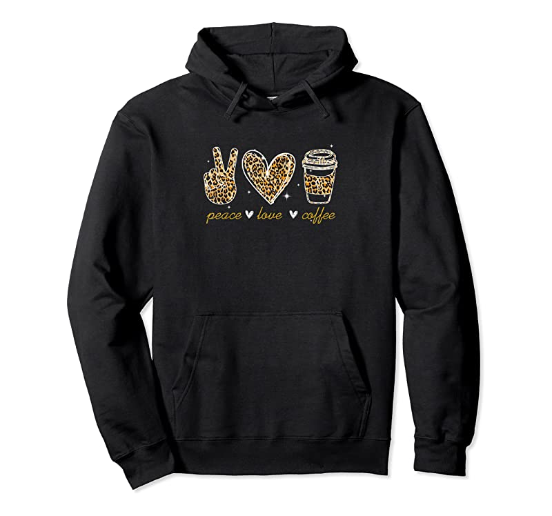 Perfect Leopard Peace Love Coffee Lovers Hippie Gifts T Shirts