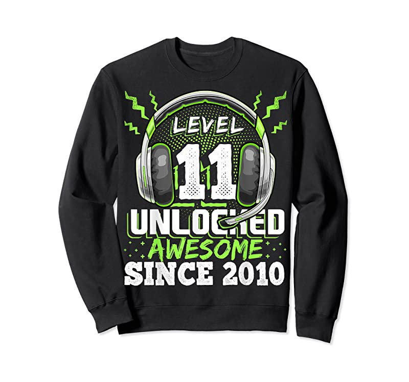 Perfect Level 11 Unlocked Awesome 2010 Video Game 11th Birthday Gift T Shirts