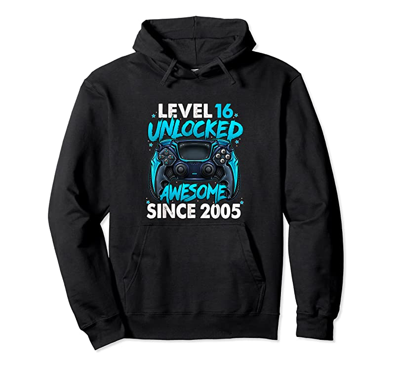 Perfect Level 16 Unlocked Awesome Since 2005 16th Birthday Gaming T Shirts