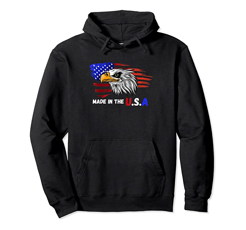 Perfect Made In The U.s.a Bald Eagle Patriotic Flag Tattoo T Shirts