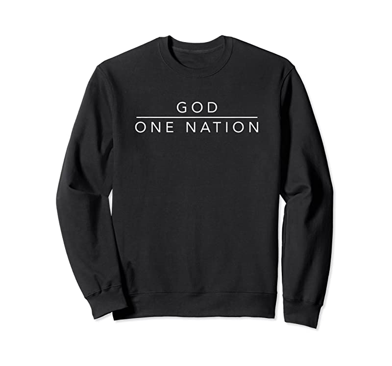 Perfect One Nation Under God Line Art Patriotic Christian T Shirts