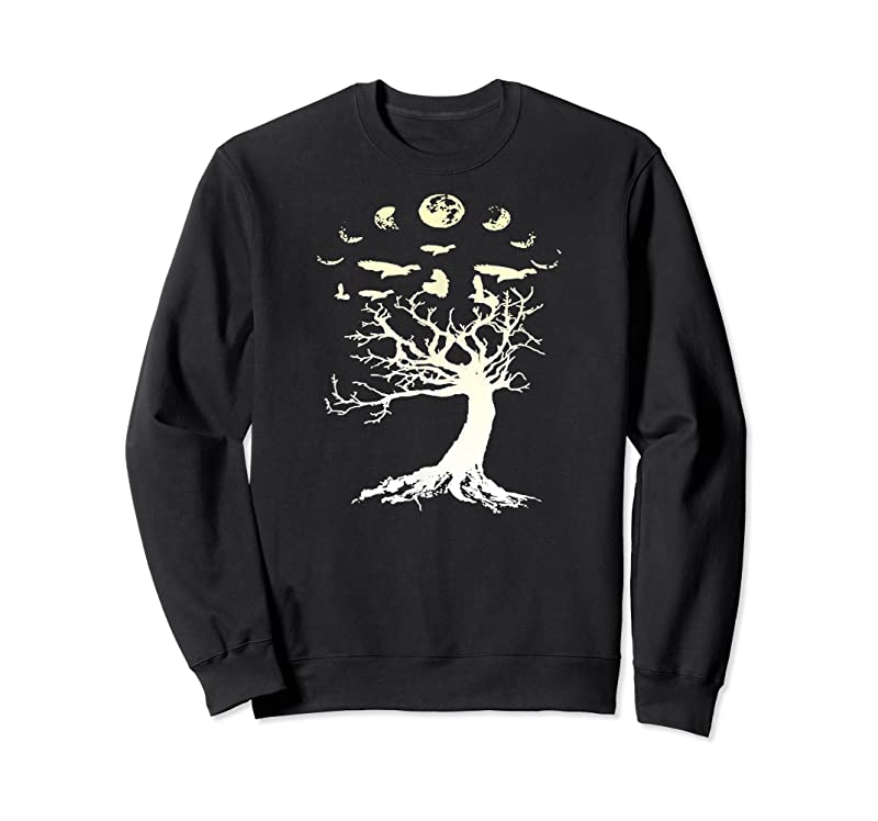 Perfect Phases Of The Moon Gothic Raven Tree Of Life Gift T Shirts