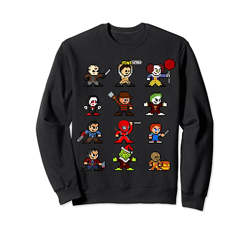 Perfect Pixel Halloween Scary Horror Christmas Gifts T Shirts