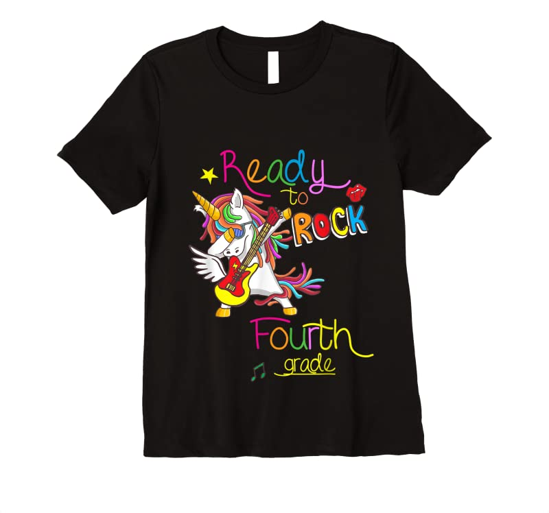 Perfect Ready To Rock Fourth Grade Back To School T Shirts