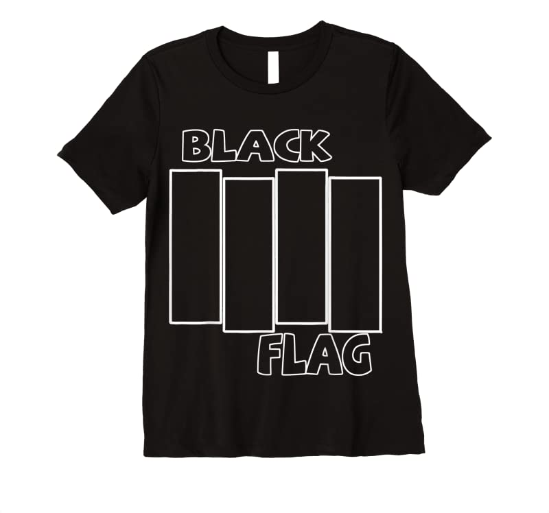 Perfect Retro Black Rock Band Love Music Love Flag American Outfits T Shirts