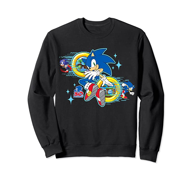 Perfect Sonic The Hedgehog's 30th Anniversary T Shirts