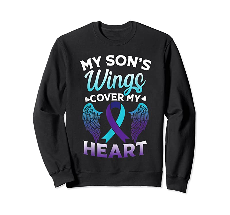 Perfect Suicide Awareness Memory Of Son Wings Cover Heart T Shirts