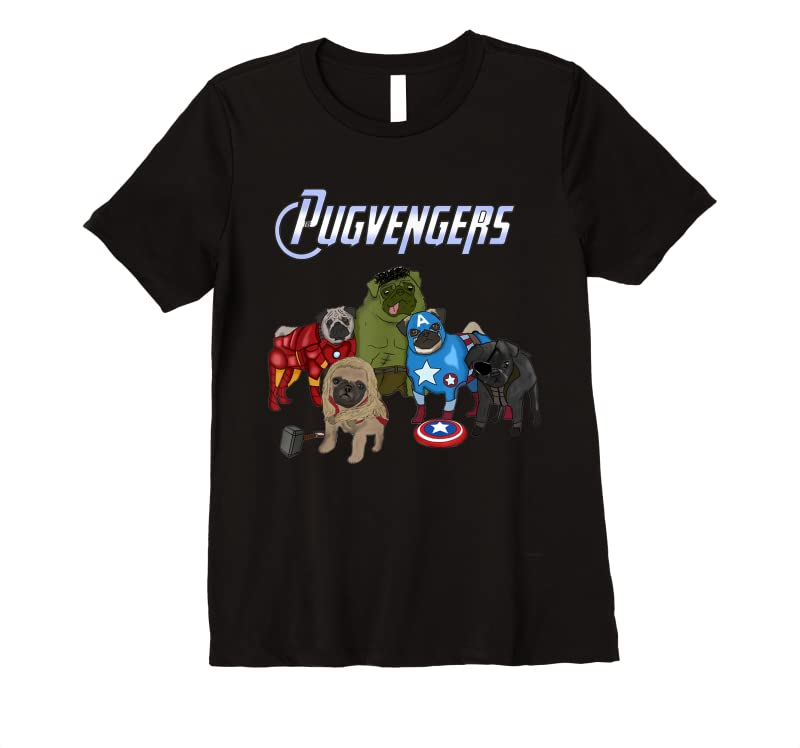 Perfect The Pugvengers Funny Superheroes Pug Dog Gift T Shirts