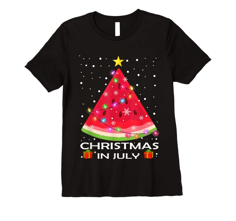 Perfect Watermelon Christmas Tree Christmas In July Summer Vacation T Shirts