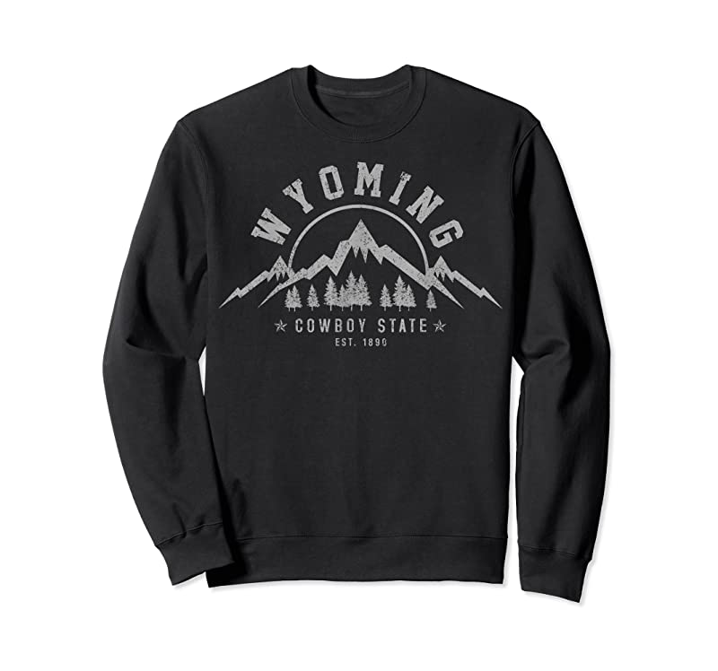 Perfect Wyoming The Cowboy State Est. 1890 Vintage Mountains Gift T Shirts