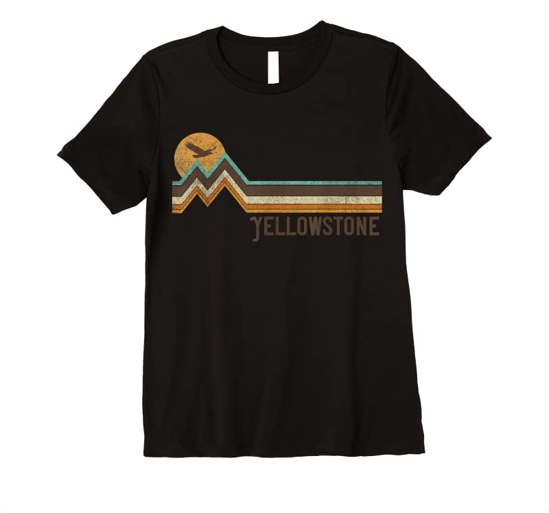 Perfect Yellowstone National Park 70's 80's Retro Vintage Distressed T Shirts