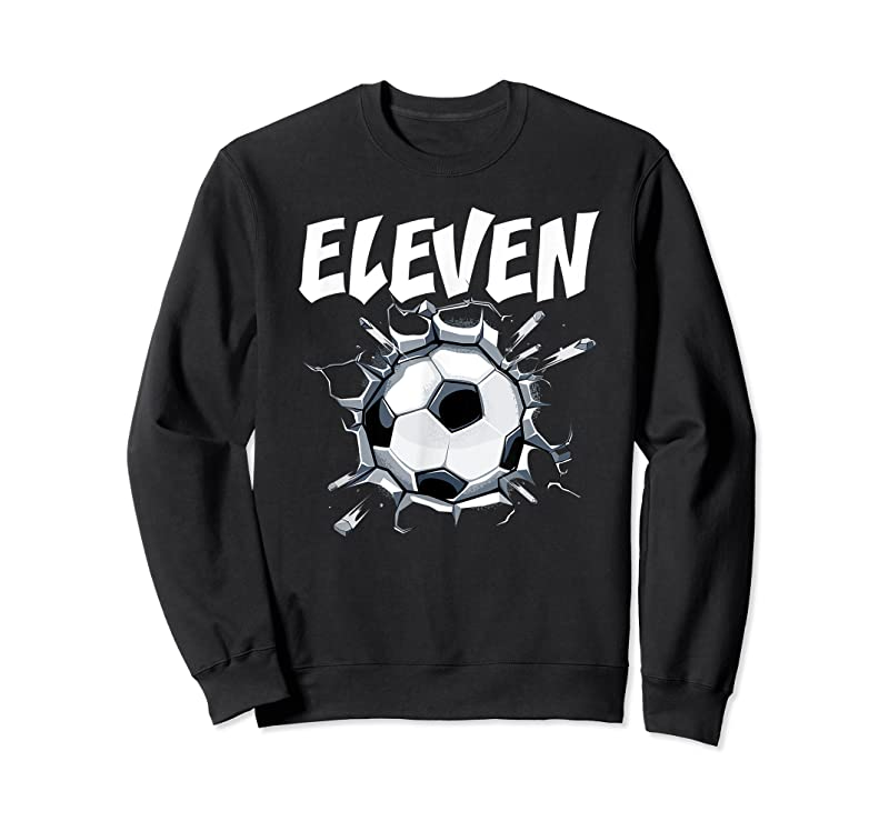 Shop 11 Year Old Soccer Birthday Party Theme 11th Boys Girls Gift T Shirts