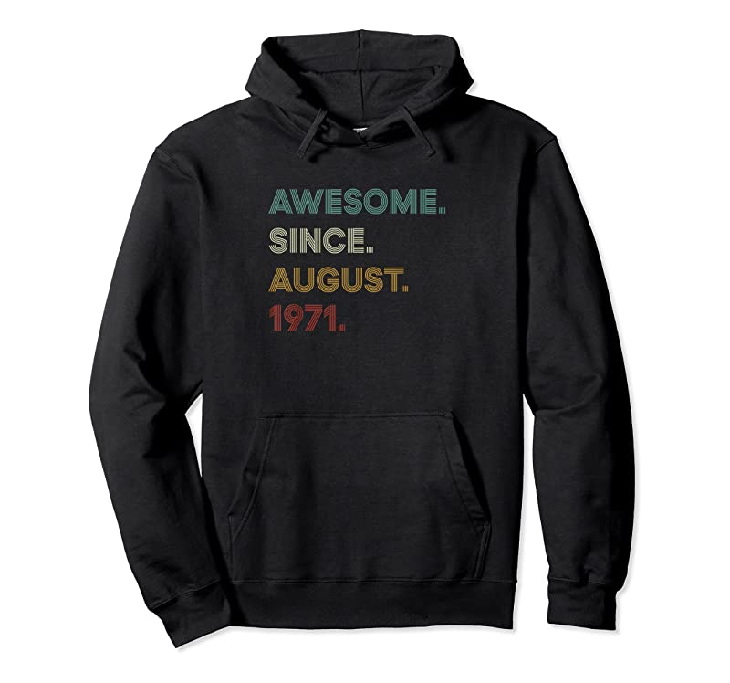 Shop 50 Years Old Awesome Since August 1971 50th Birthday Vintage T Shirts