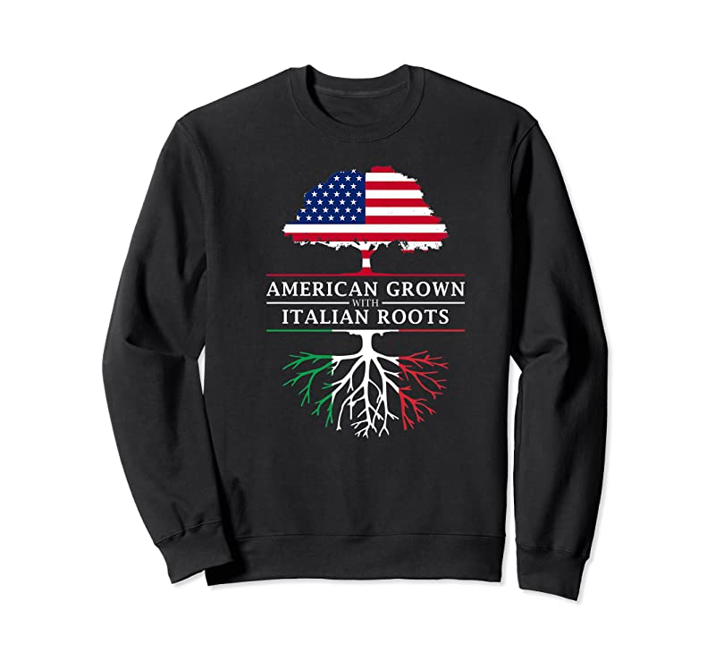 Shop American Grown With Italian Roots Italy T Shirts