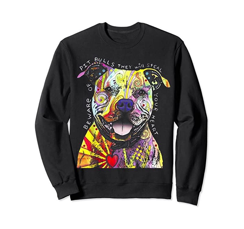 Shop Colorful Pit Bull Terrier Dog Love R Dad Mom Boy Girl Funny T Shirts