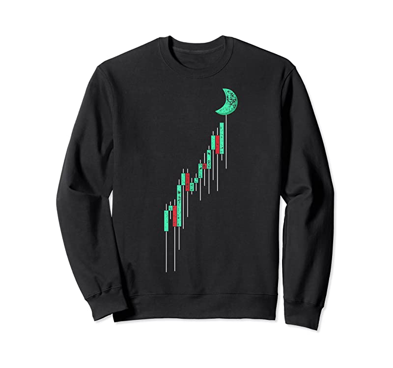 Shop Crypto Trading Hodl Vintage Stock Chart To The Moon T Shirts