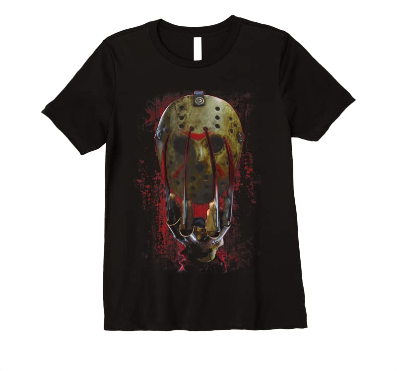 Shop Freddy Vs Jason Mask And Claws T Shirts