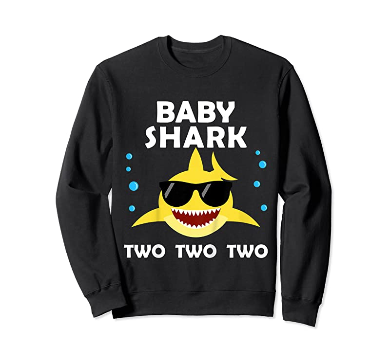 Shop Kids Baby Shark Two 2nd Birthday Party Matching Gifts For Kids T Shirts