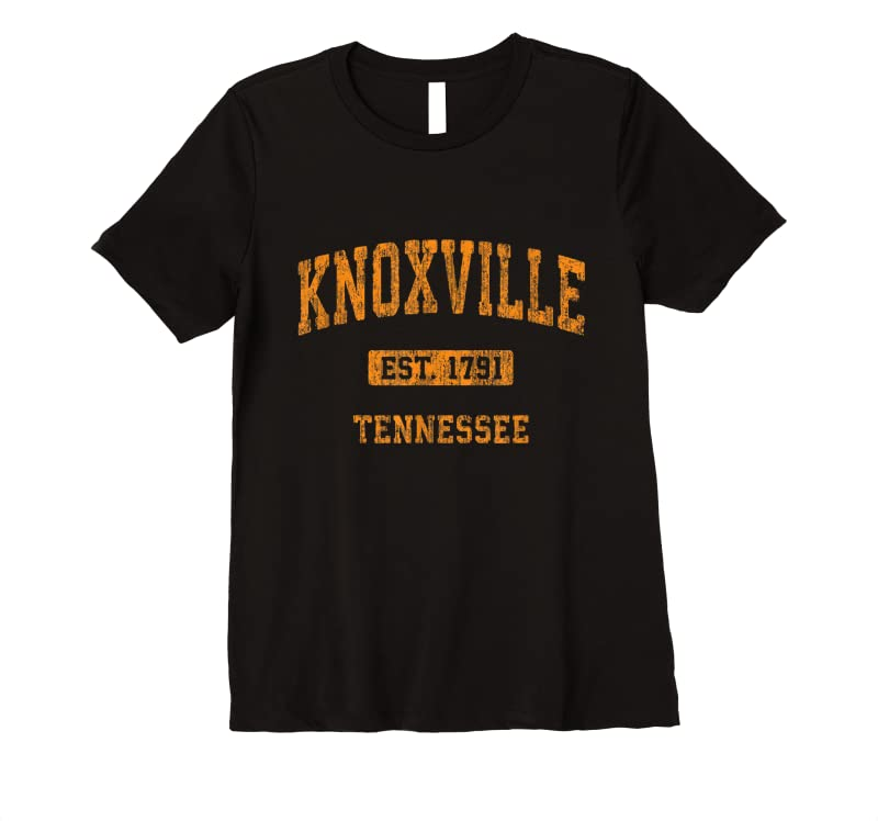 Shop Knoxville Tennessee Tn Vintage Athletic Sports Design T Shirts