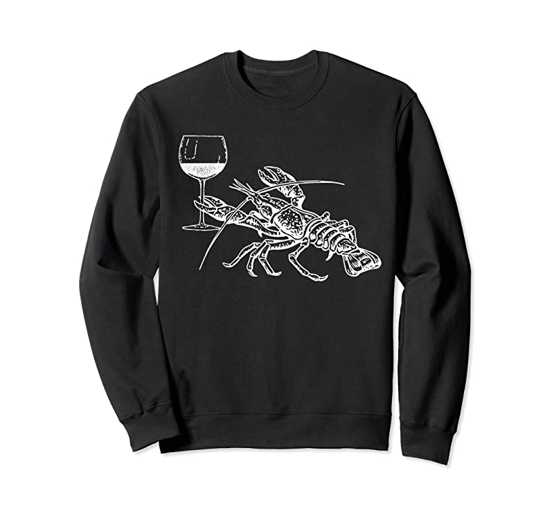 Shop Lobster Wine Drinking Funny Beach Cruise Vacation Gift T Shirts