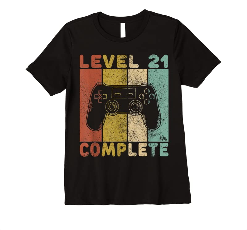 Shop Mens Mens 21st Birthday Men Gaming Level 21 Complete T Shirts