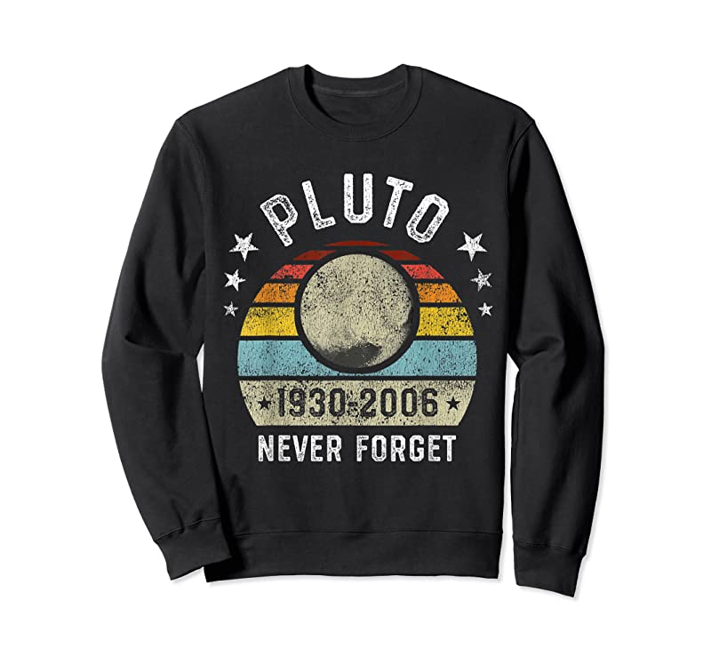 Shop Never Forget Pluto Retro Space Science Graphic Vintage Gift T Shirts