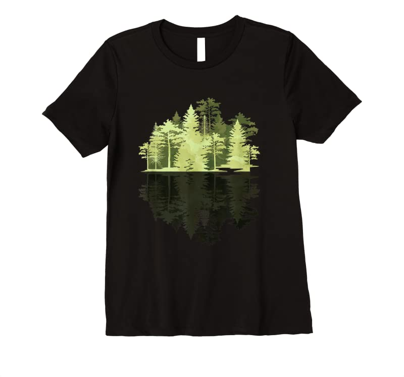 Shop Outdoors Wildlife Trees Nature Reflection Forest T Shirts