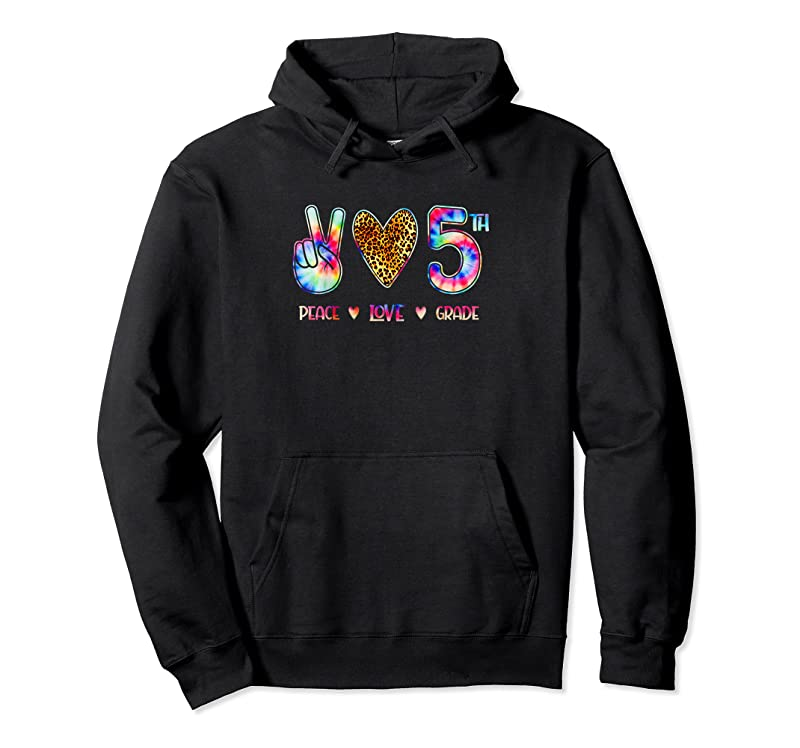 Shop Peace Love Fifth Grade Squad Back To School Gift T Shirts