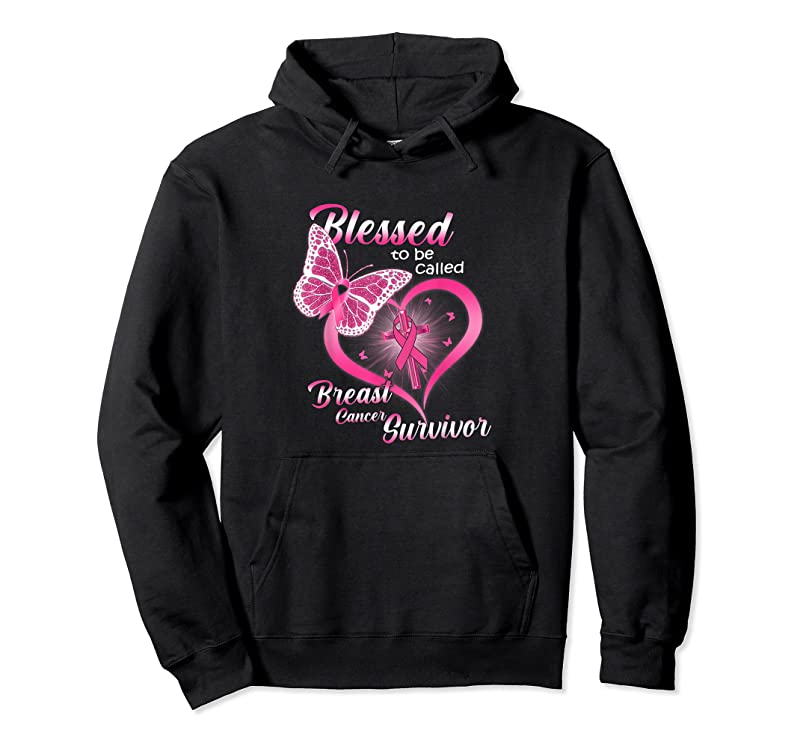 Shop Pink Butterfly Blessed To Be Called Breast Cancer Survivor T Shirts