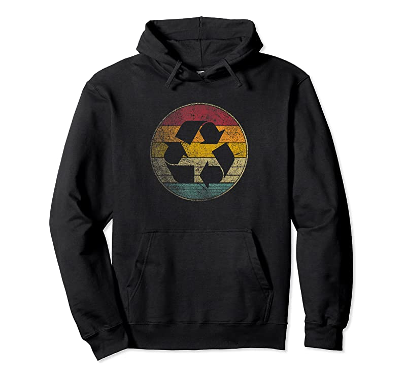 Shop Recycle Logo Earth Day Nature Planet Conservation Retro Gift T Shirts