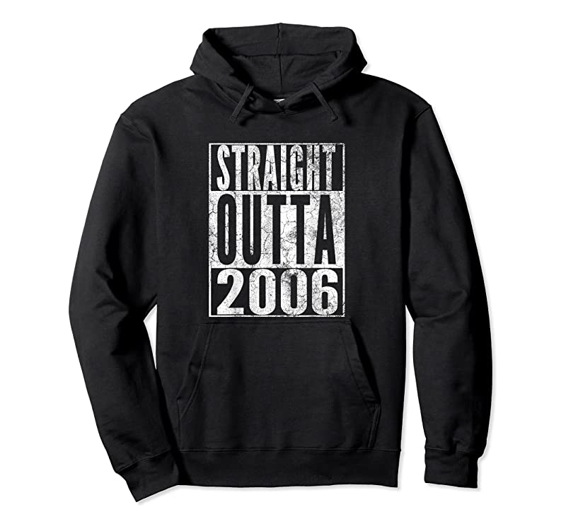 Shop Straight Outta 2006 15th Birthday 15 Years Old Boy Girl T Shirts