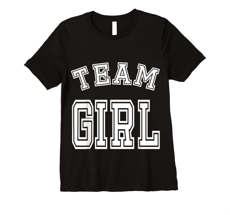 Shop Team Girl Baby Shower Gender Reveal Cute Funny Pink T Shirts