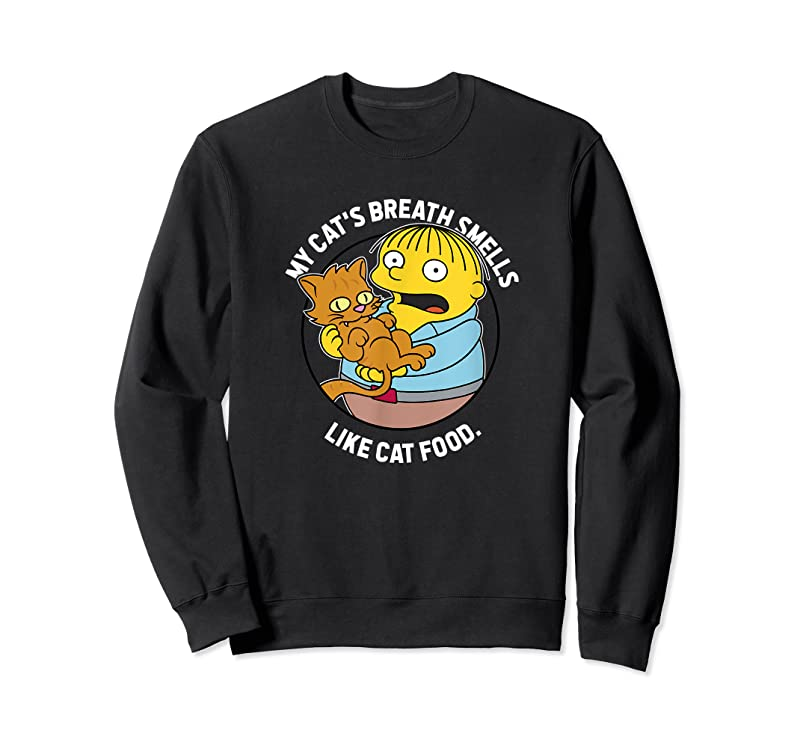 Shop The Simpsons Ralph My Cat's Breath Smells Like Cat Food T Shirts