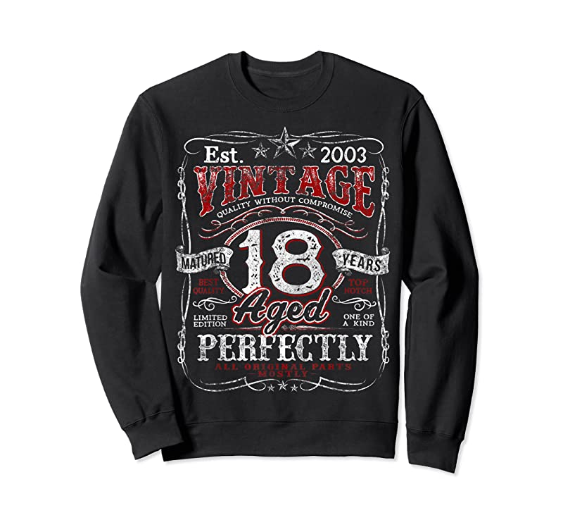 Shop Vintage 18th Birthday 2003 Limited Edition Born In 2003 Gift T Shirts
