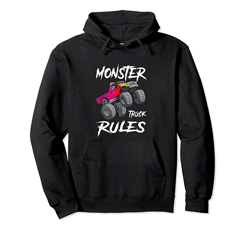 Shop Vintage Monster Truck Rules Retro Sunset Cool Engines T Shirts