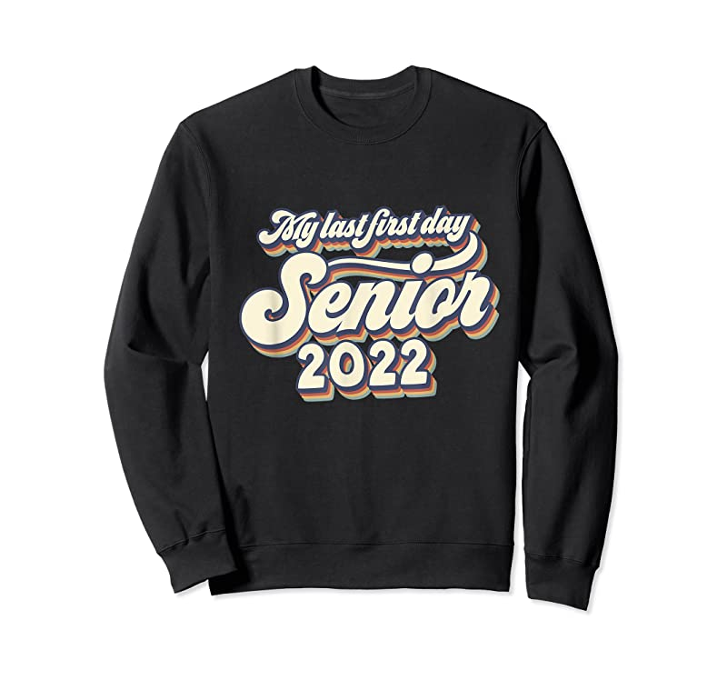 Shop Vintage My Last First Day Senior 2022 Back To School T Shirts