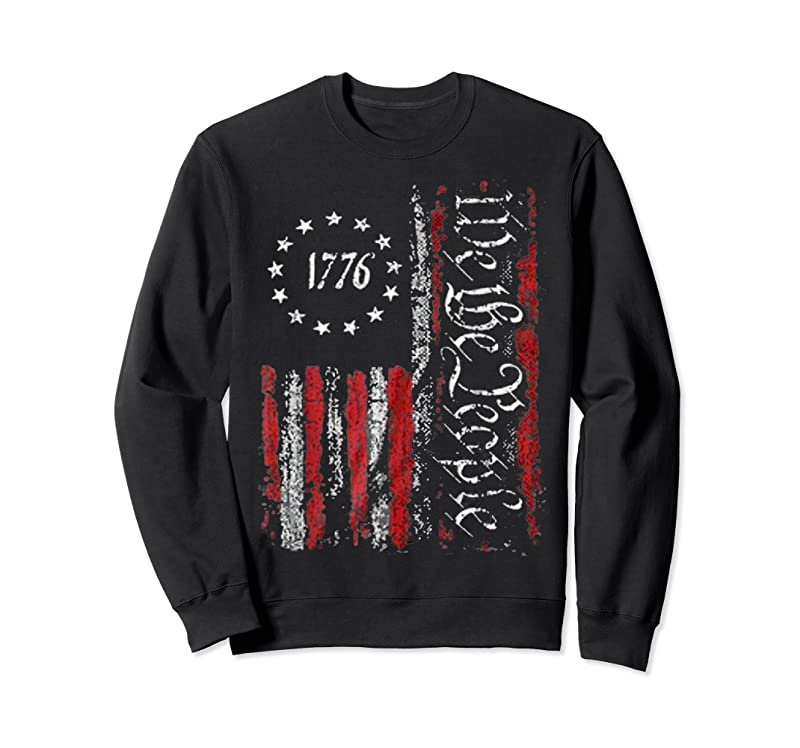Shop Vintage Old American Flag Patriotic 1776 We The People Usa T Shirts